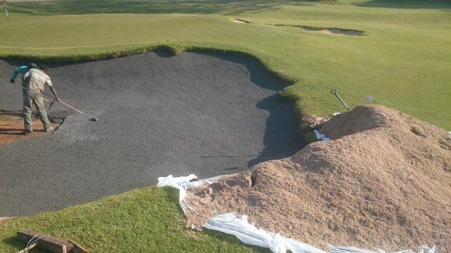 BunkerFix Mix Bunker Liner: Houghton Golf Club, Johannesburg, Gauteng, South Africa