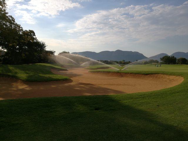 Golf Course Irrigation Sprinkler Repair and Re-Wiring: Pecanwood Golf Club: Hartebeespoort, Gauteng, South Africa